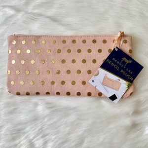 Blush and Gold Pencil Pouch
